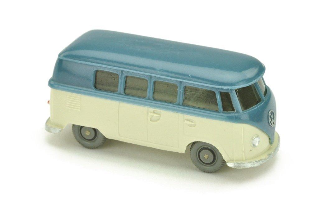 VW T1 Bus (alt), mattgraublau/perlweiss
