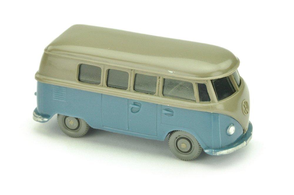 VW T1 Bus (alt), betongrau/mattgraublau