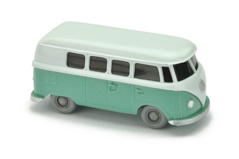 VW T1 Bus (alt), blaeulichweiss/tuerkis