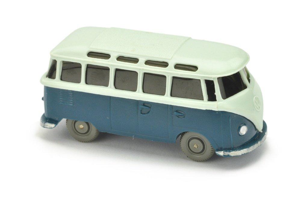 VW T1 Sambabus, papyrusweiss/d'-azurblau
