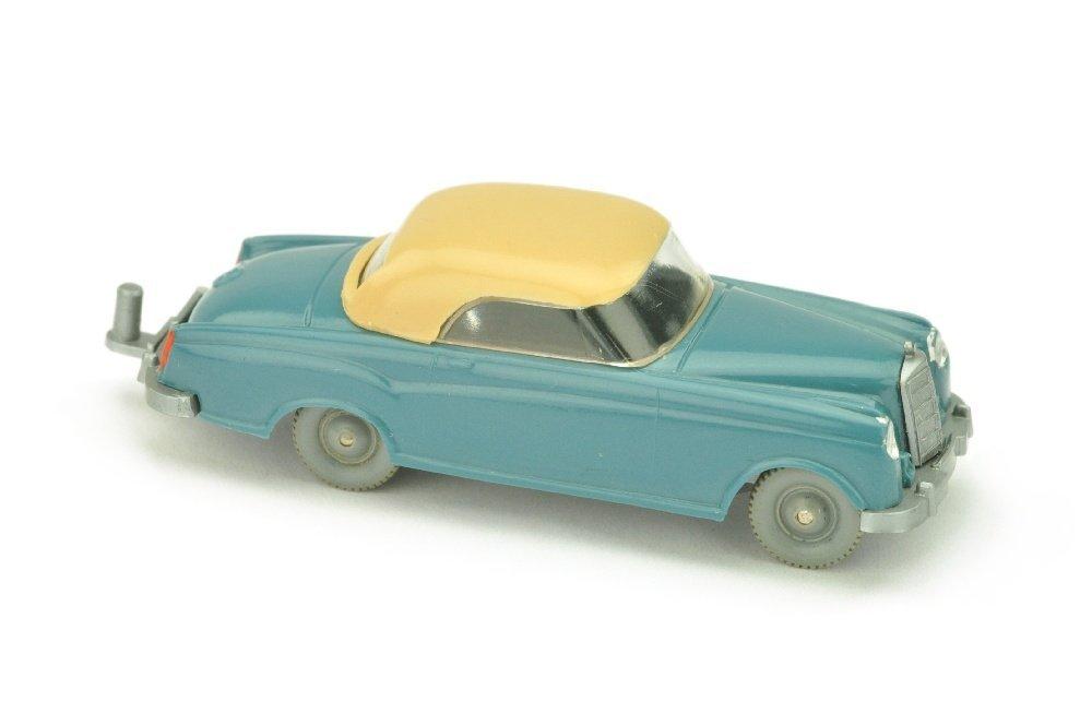 Mercedes 220 Coupe, diamantblau/beige