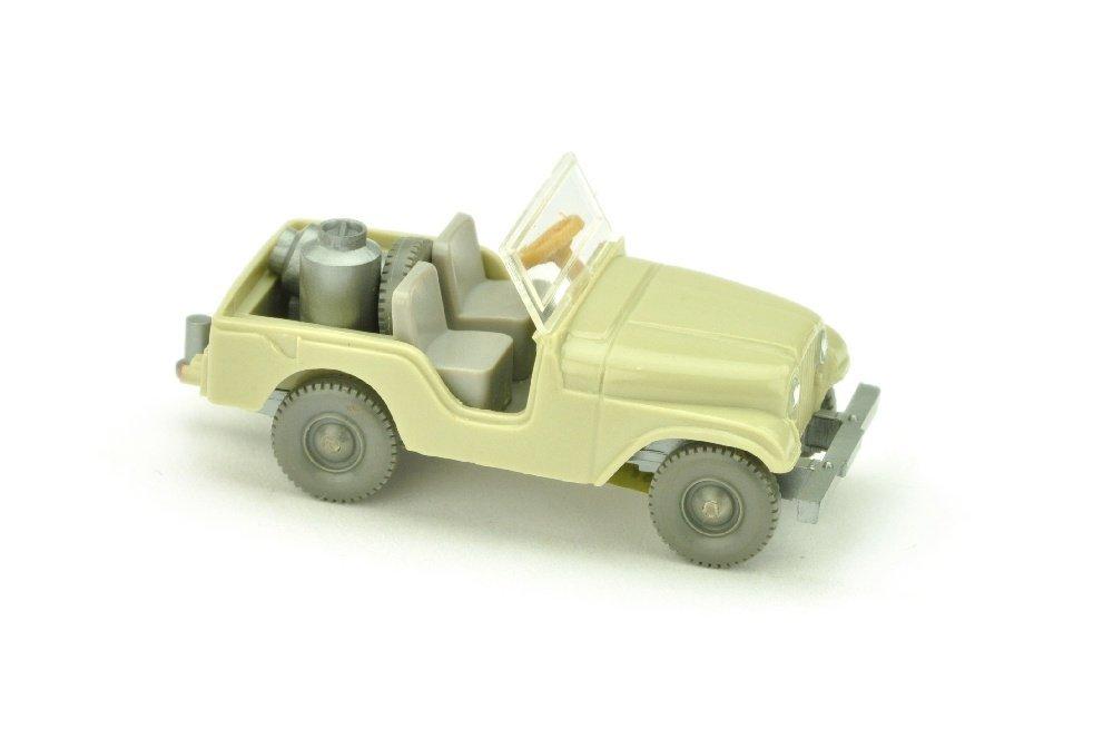 Jeep mit Milchkannen, hellgelbgrau (mit OPS)
