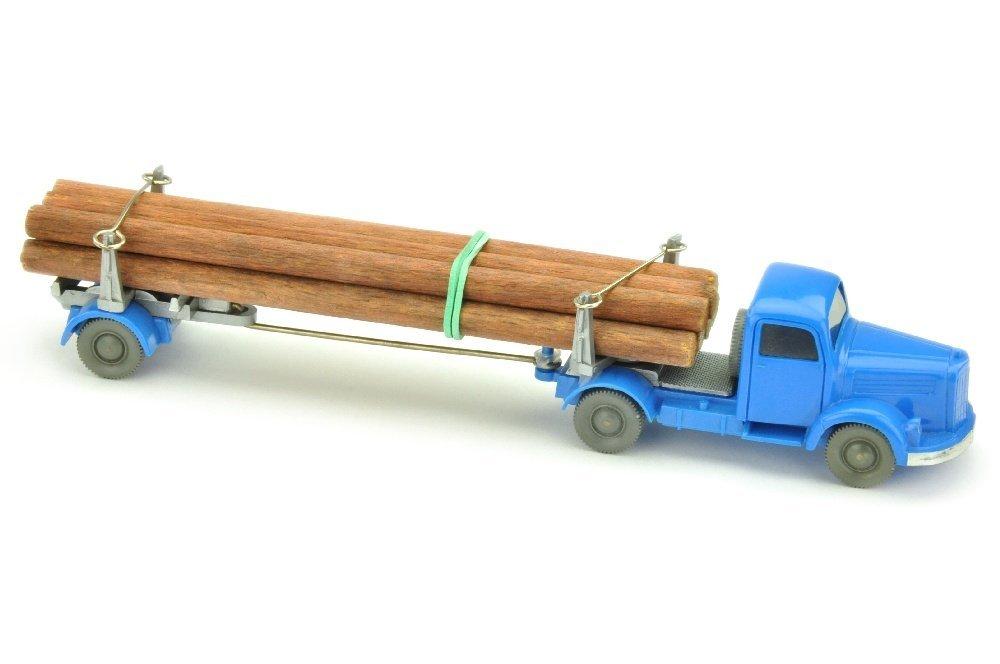 MB 3500 Langholztransporter, himmelblau