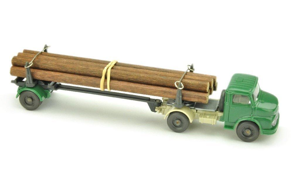 MB 1413 Langholztransporter, hellpatinagruen