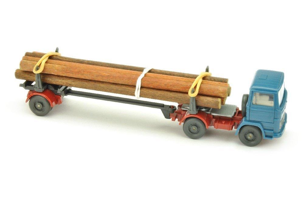 MB 1317 Langholztransporter, azurblau