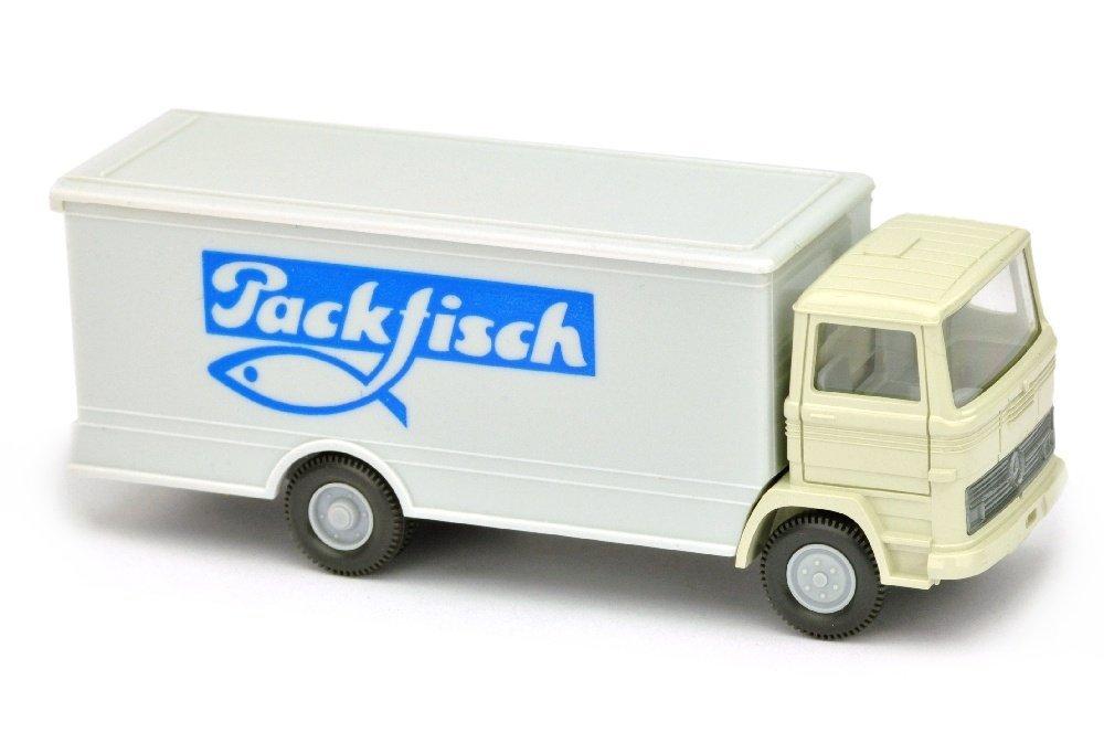 Koffer-LKW MB 1317 Packfisch (Kabine perlweiss)