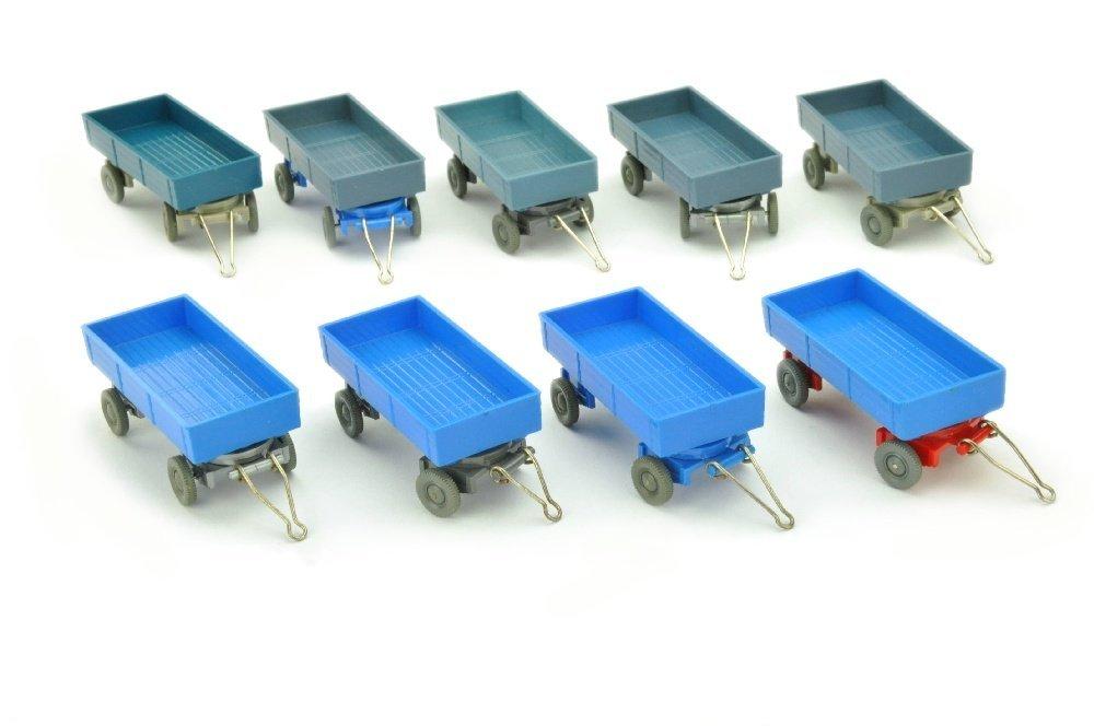 Konvolut 10 LKW-Anhänger (Typ 4) äöüßé