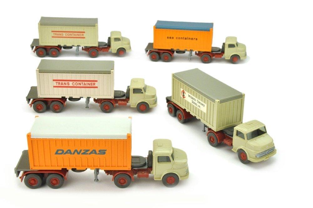 Konvolut 5 MB 1413-Container-LKW der 70er J.