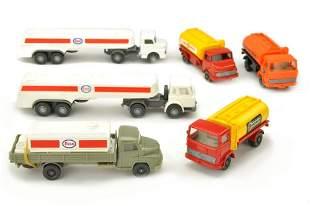 Konvolut 8 Tankwagen der 70er Jahre