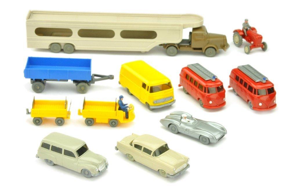 Konvolut 11 Modelle der 50er/60er Jahre