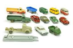 Konvolut 14 Modelle der 50er70er Jahre