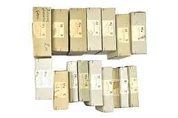 Konvolut 16 leere Haendlerkartons der 60er Jahre