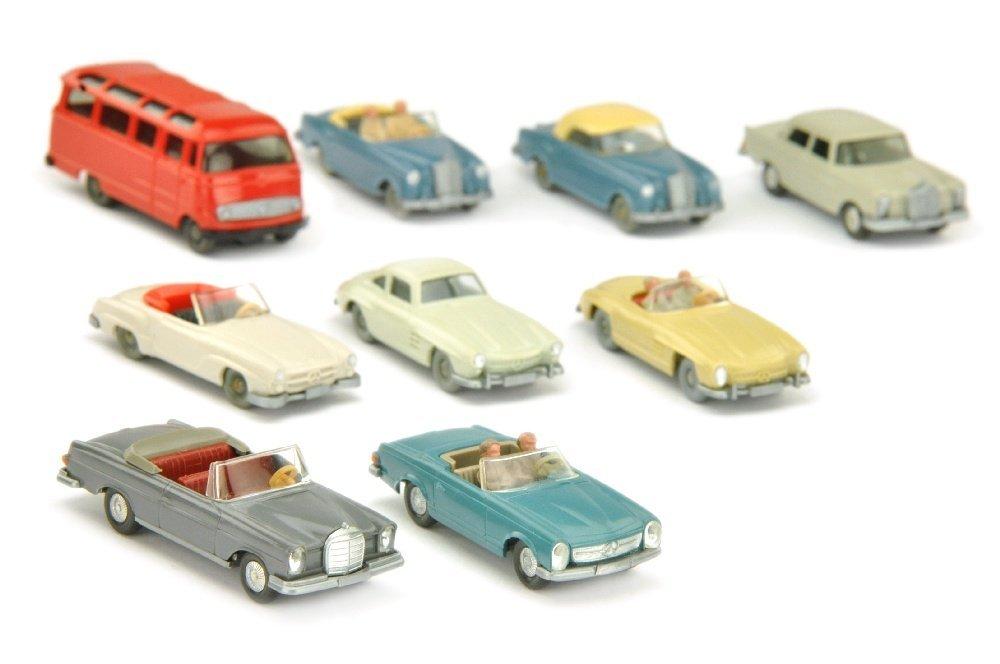 Konvolut 9 Mercedes-PKW der 60er Jahre