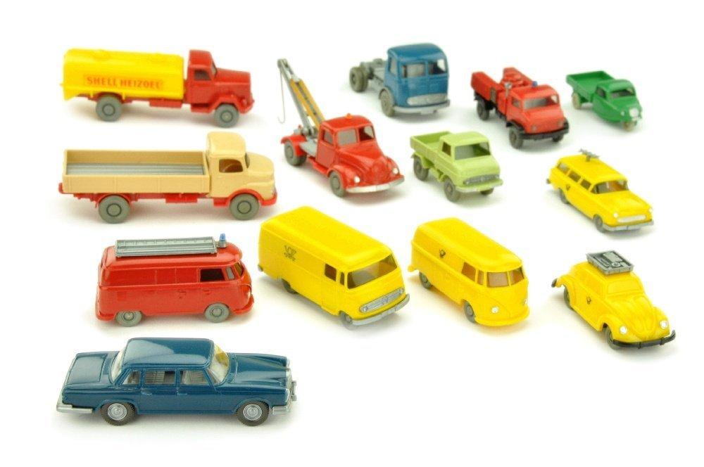Konvolut 13 Modelle der 60er Jahre