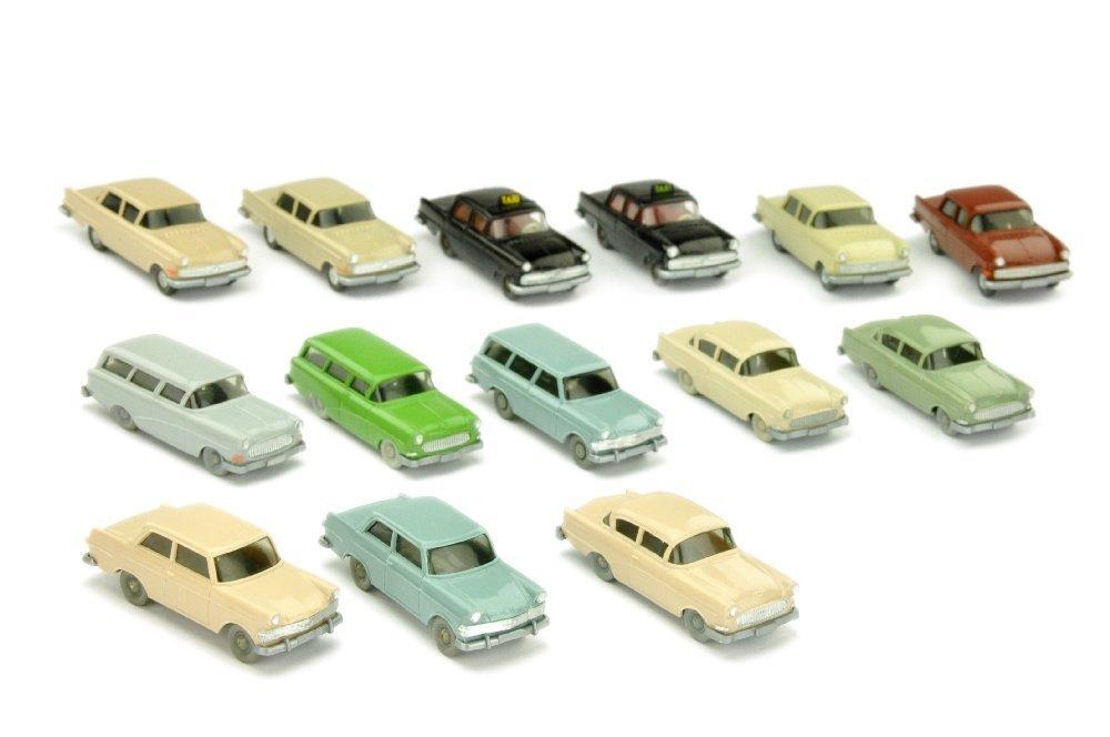 Konvolut 14 Opel-PKW der 60er Jahre