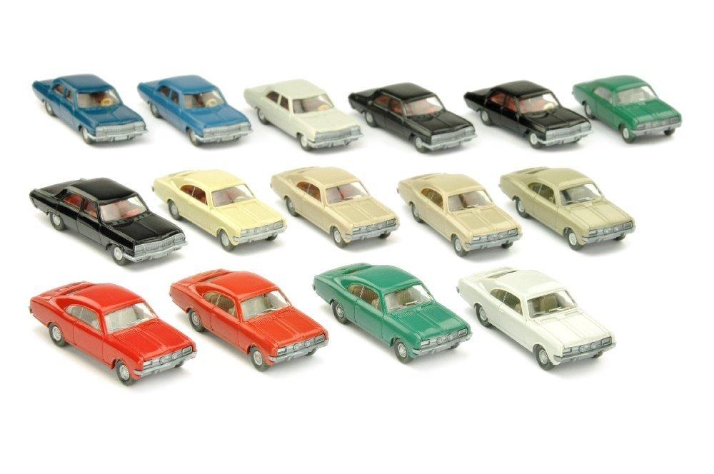 Konvolut 15 Opel-PKW der 60er/70er Jahre