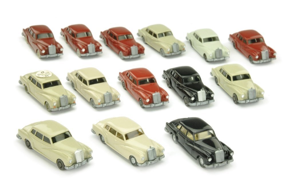Konvolut 14 Mercedes 300 der 60er/70er Jahre