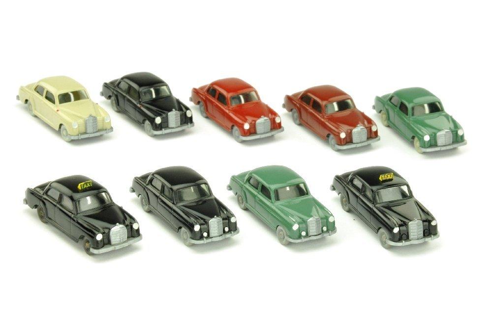 Konvolut 9 Mercedes 180/220 der 60er Jahre