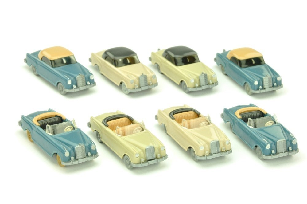 Konvolut 8 Mercedes 220 Cabrios/Coupes