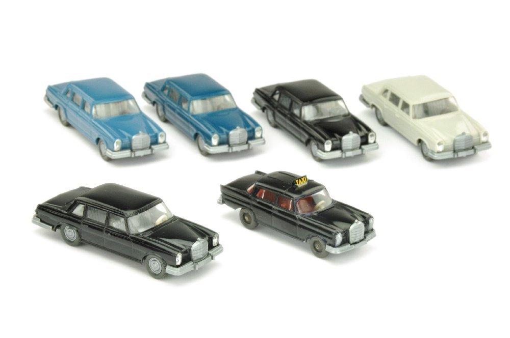 Konvolut 5+1 Mercedes 600 der 60er/70er Jahre