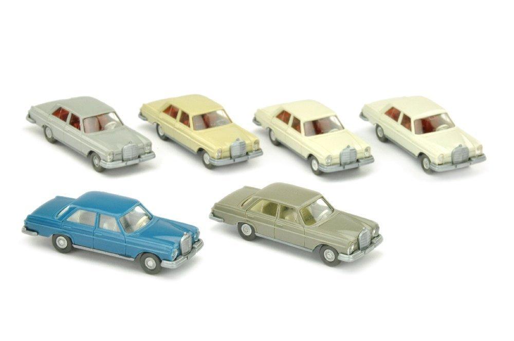 Konvolut 6 Mercedes 280 S der 60er/70er Jahre