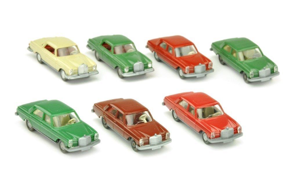 Konvolut 7 Mercedes-PKW der 60er/70er Jahre
