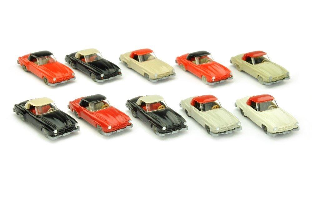 Konvolut 10 Mercedes 190 SL Coupes