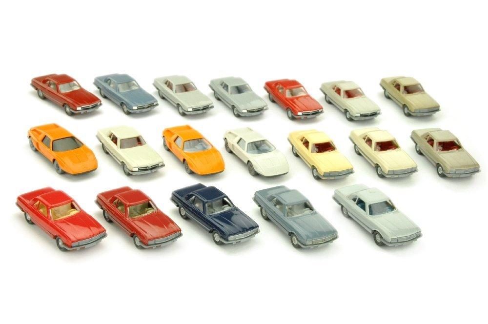 Konvolut 19 Mercedes-PKW der 70er Jahre