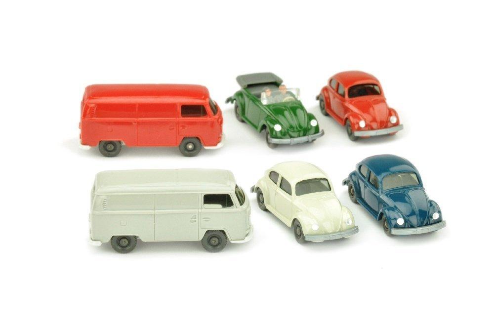 Konvolut 6 Volkswagen-PKW der 70er Jahre