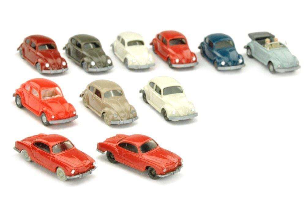 Konvolut 11 VW-PKW der 60er/70er Jahre