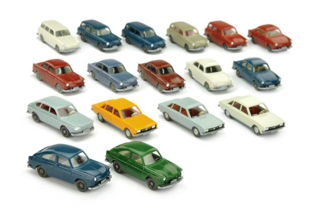 Konvolut 17 VW-PKW der 60er/70er Jahre