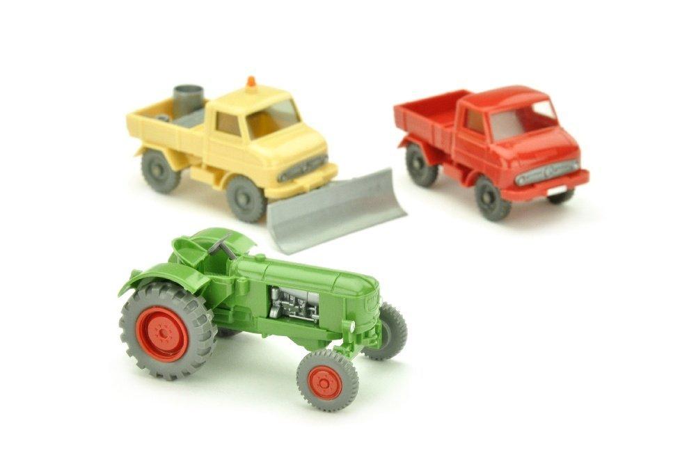 Konvolut 3 Unimog/Traktoren der 60er Jahre