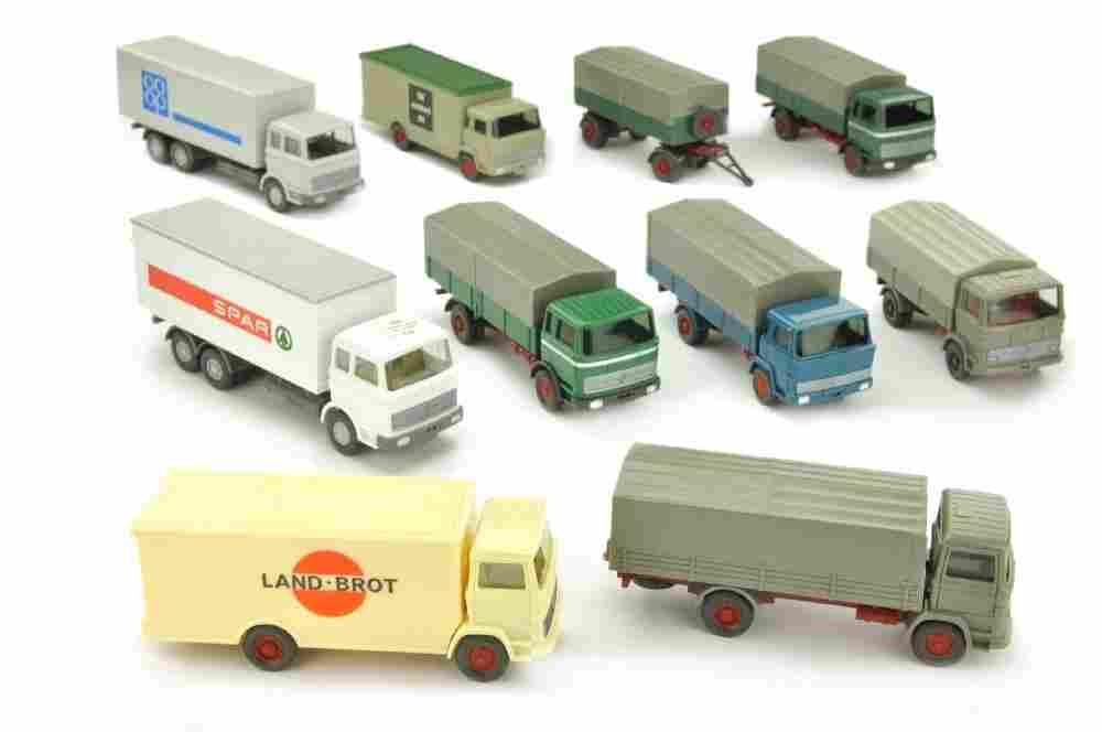 Konvolut 9 LKW der 60er/70er Jahre
