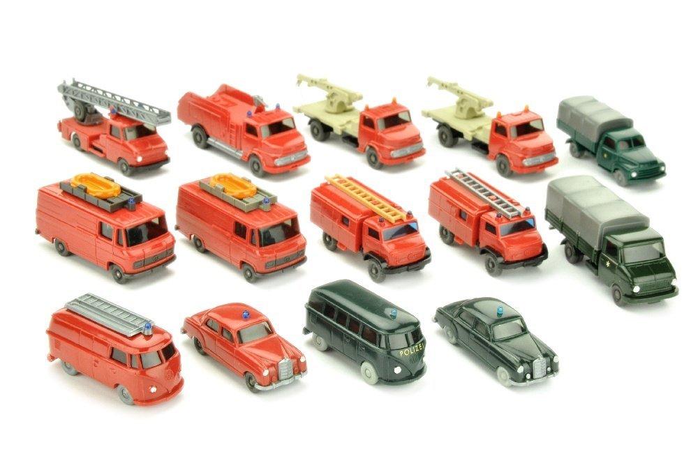 Konvolut 14 Einsatzwagen der 60er/70er Jahre