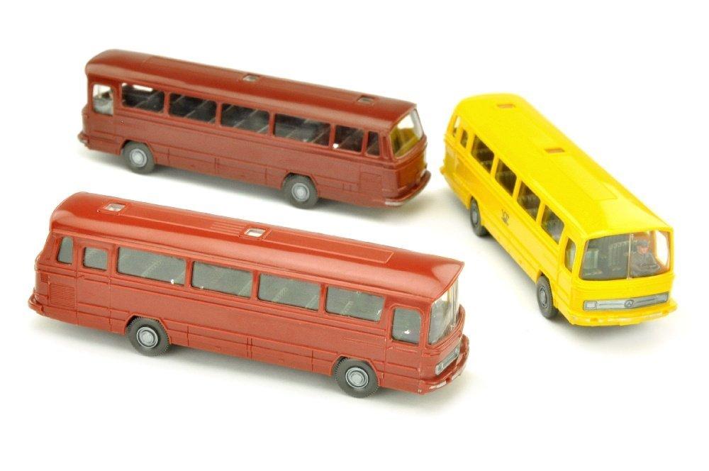 Konvolut 3 Omnibusse MB O 302 der 70er Jahre