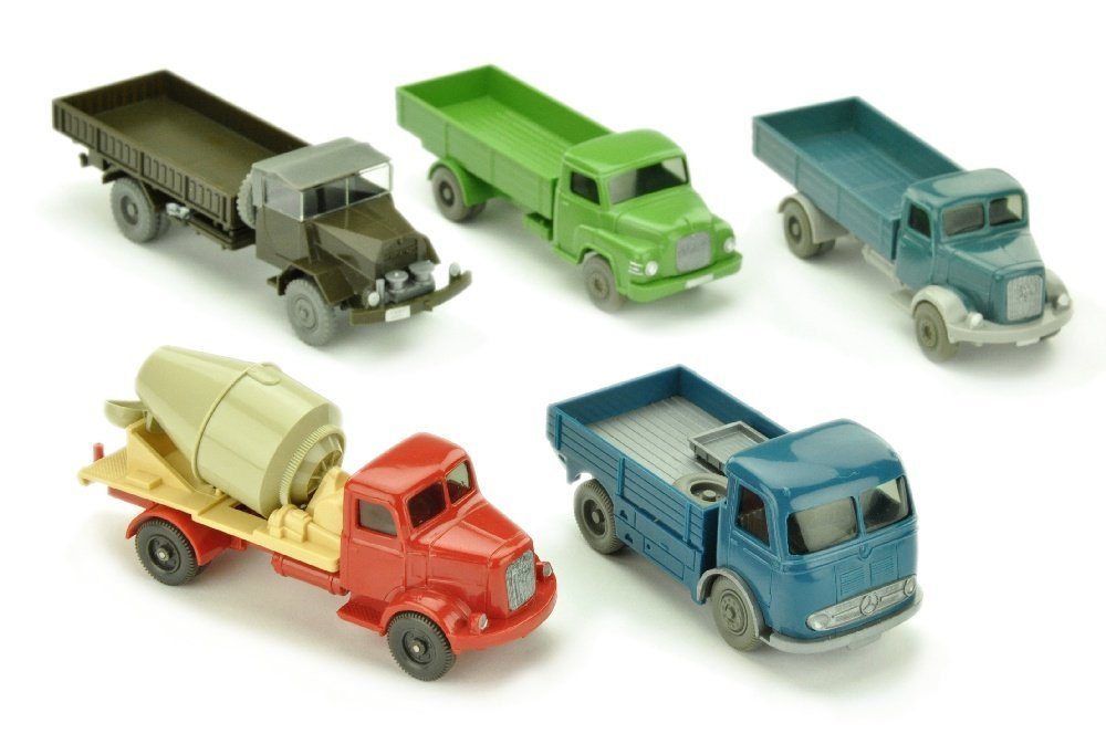 Konvolut 5 LKW der 60er Jahre