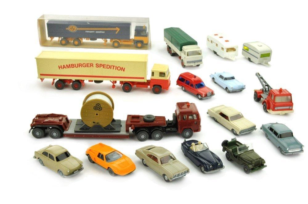 Konvolut 14+2 Modelle der 70er Jahre