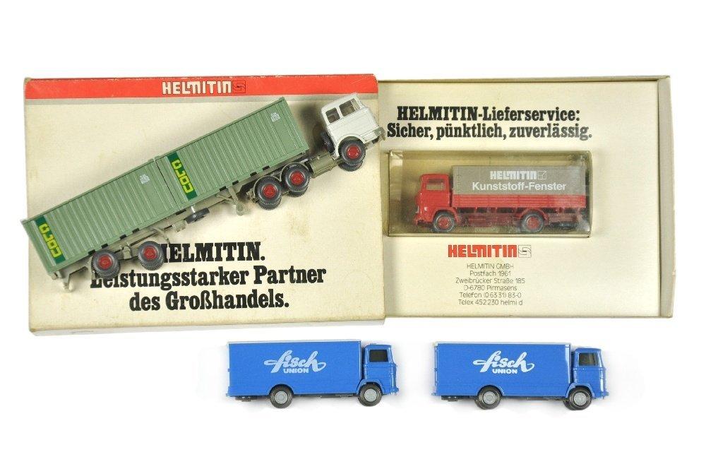 Konvolut 4 LKW der 70er/80er Jahre