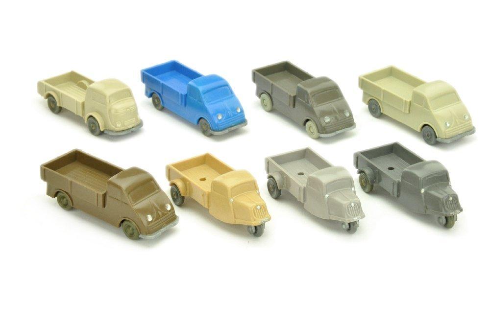 Konvolut 8 unverglaste Kleintransporter
