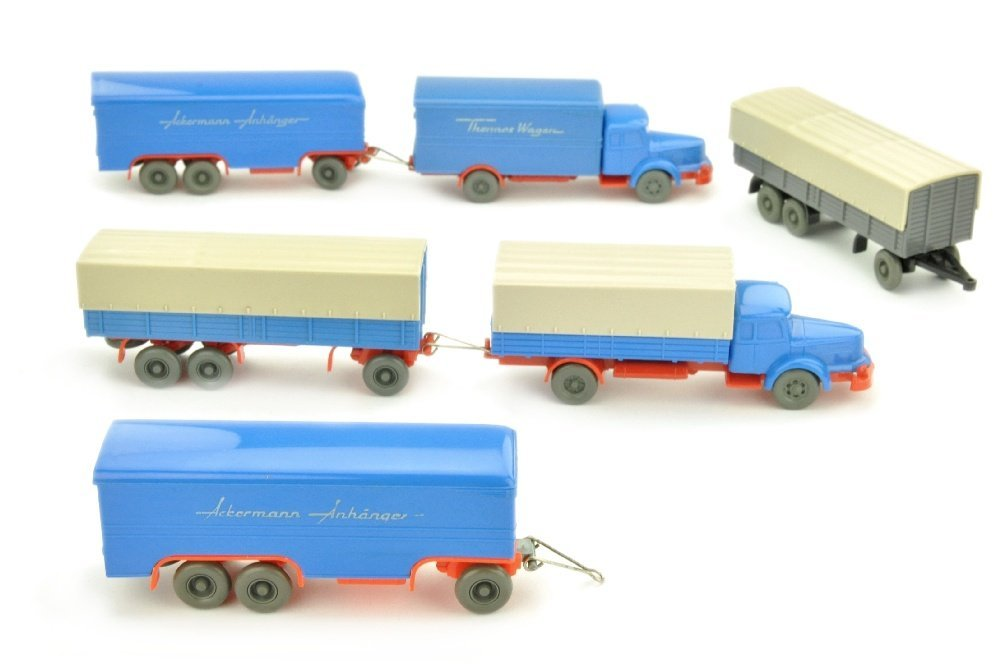 Konvolut 6 unverglaste Modelle