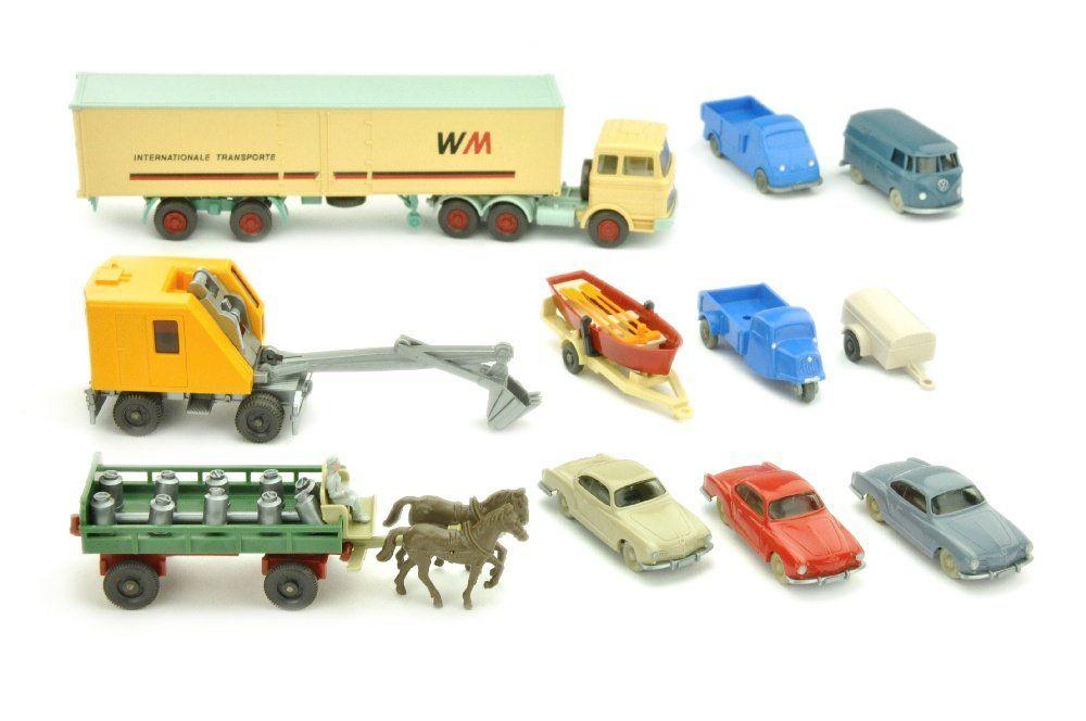 Konvolut 11 Modelle der 50er/70er Jahre