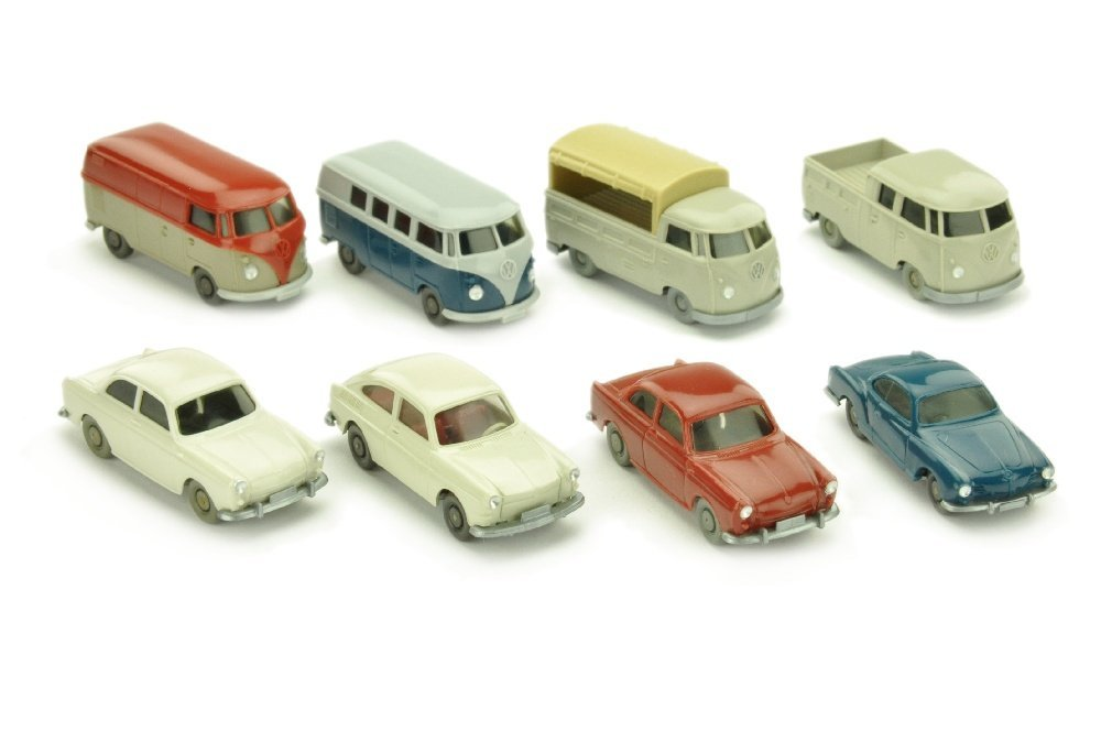Konvolut 8 VW-PKW der 60er Jahre