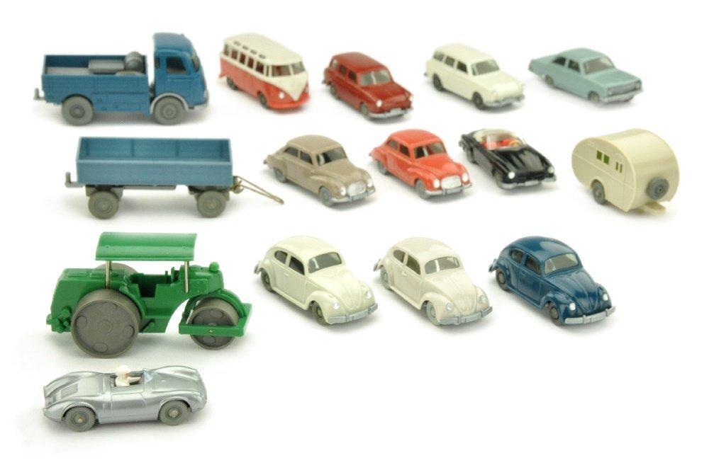 Konvolut 15 Modelle der 60er Jahre