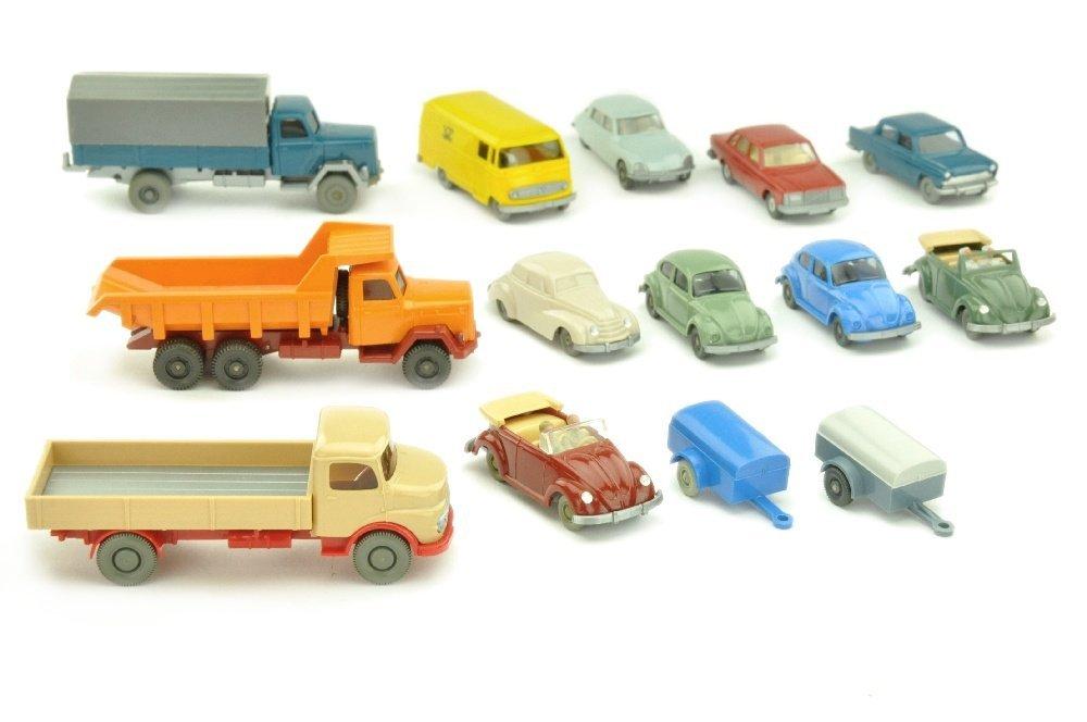 Konvolut 14 Modelle der 50er bis 70er Jahre