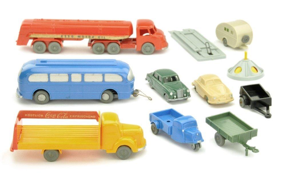 Konvolut 9+2 Modelle der 50er Jahre