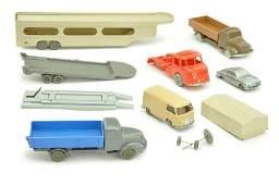 Konvolut 8 Modelle der 1950er Jahre