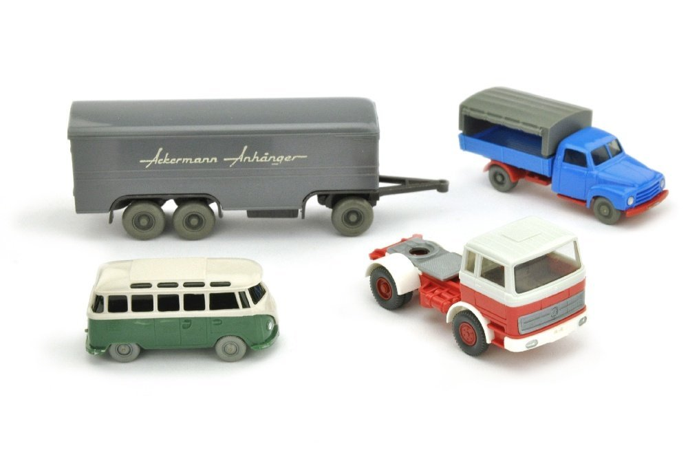 Konvolut 4 Modelle der 50er/70er Jahre