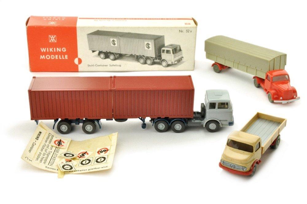 Konvolut 3 LKW der 60er/70er Jahre