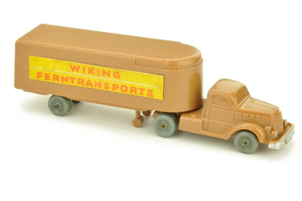 Sattelzug White Ferntransporte, ockerbraun