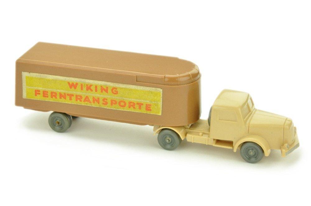 Sattelzug Henschel Ferntransporte, ockerbraun